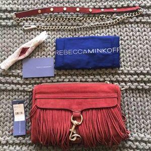 Rebecca Minkoff Suede Fringe Mini MAC Cross Body